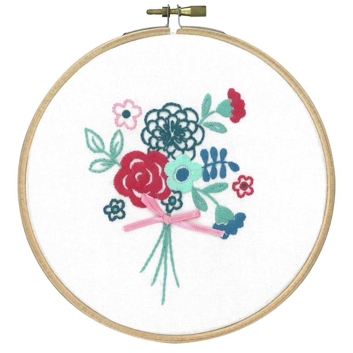 Vervaco modern flowers embroidery kit ebay