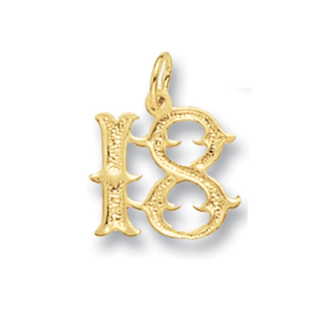 9ct Gold Old English Font 18th Birthday Necklace