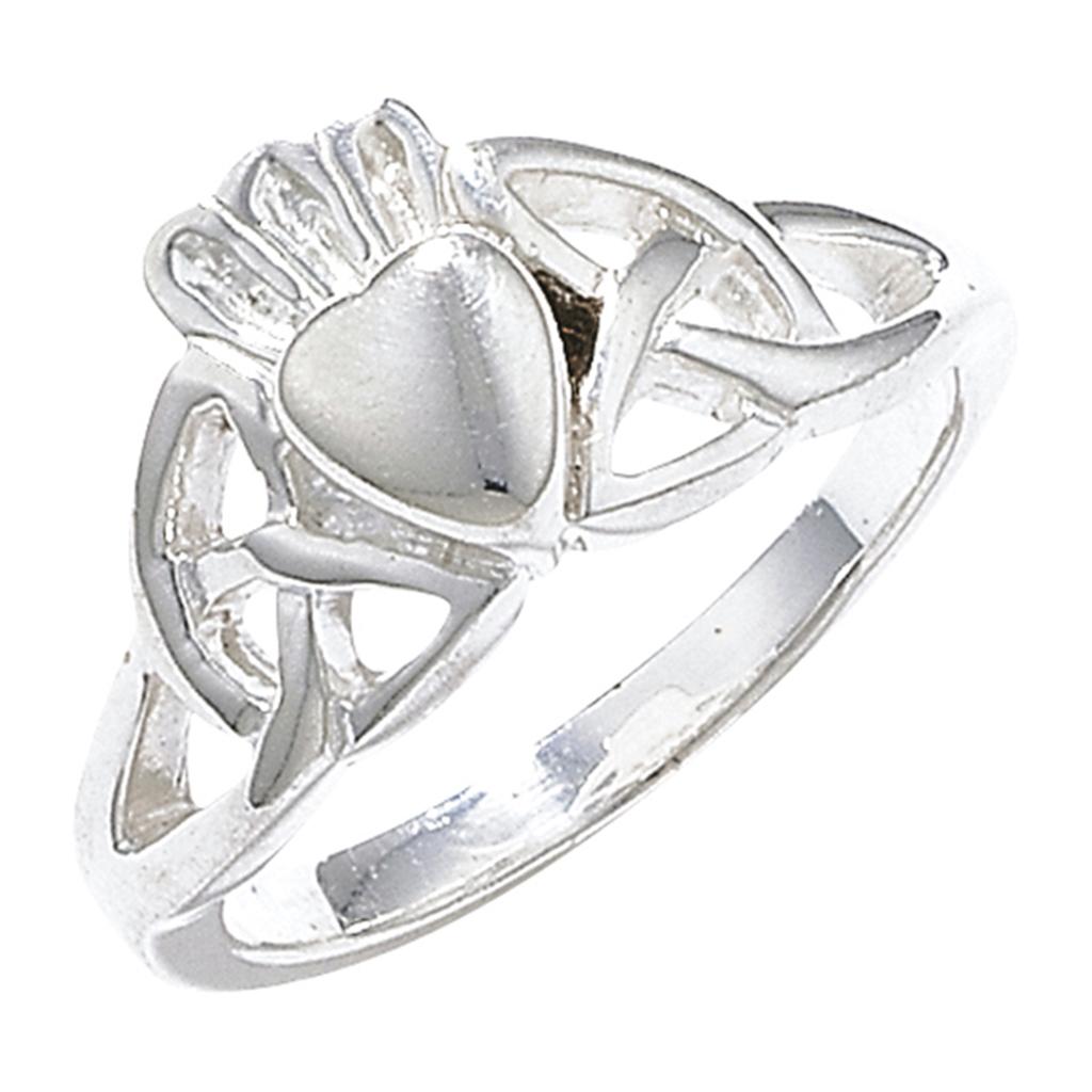 silver claddagh ring ebay