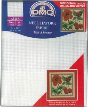 50x75cm DC88//10 - Blanc 16 Count Aida Fabric 20x30 Inches